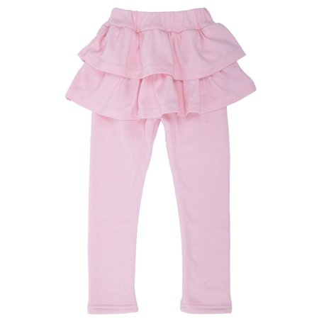 Simplicity Toddler Attached Ruffled Skirted Legging Footless Pants Tights, - Skirt And Legging