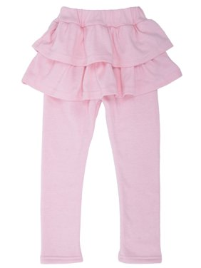7ff8e65ed8cd2 Product Image Simplicity Toddler Attached Ruffled Skirted Legging Footless  Pants Tights, Pink