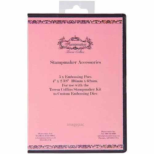 "Teresa Collins Stampmaker Embossing Gel Pacs, Medium, 5/pkg, 4"" x 2-3/8"", Pink"