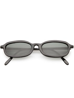 b3e9a304a57 Product Image True Vintage Small Frame Oval Sunglasses Horn Rimmed 49mm  (Black   Smoke)