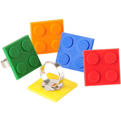(Price/Dozen)US TOY JA839 Block Mania Rings