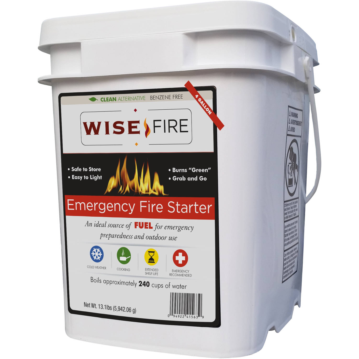 WiseFire Emergency Fire Starter, 13.1 lbs by Wise Company, Inc