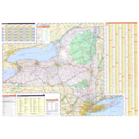48x70 New York State Official Executive Laminated Wall Map ()