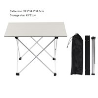 Aluminum Alloy Folding Camping Table Roll-Top Lightweight Portable Stable Versatile Picnic Table