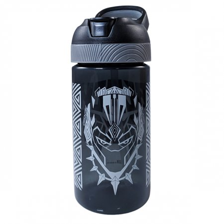 Marvel Avengers Black Panther Anti Spill 16oz Reusable Water Bottle - Small Reusable Water Bottles