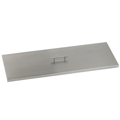 American Fireglass Rectangular Drop-In Pan Stainless Stee...