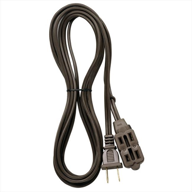 Voltec 01-00001 6 ft.  Extension Cord, 3-Outlet 2-Conductor - Brown, Case of 25