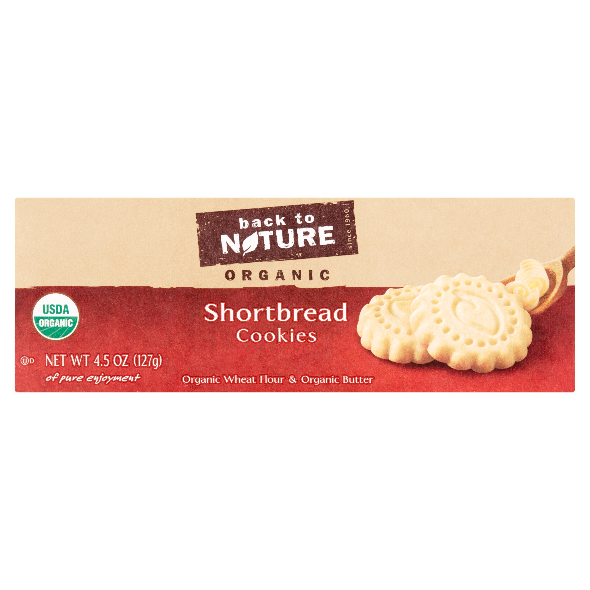 Back to Nature Organic Shortbread Cookies, 4.5 oz by Back to Nature Foods Co., LLC