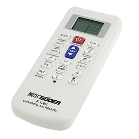 Unique Bargains Universal A/C Air Conditioner Remote Control for LG Hitachi White Color
