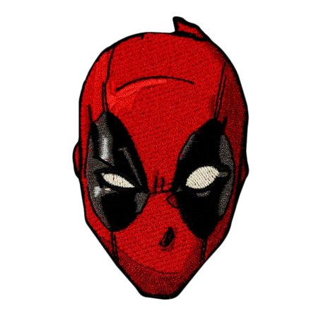 Deadpool Face Mask Iron-On Patch Marvel Comic Anti-Hero Craft Apparel Applique - Deadpool Without The Mask