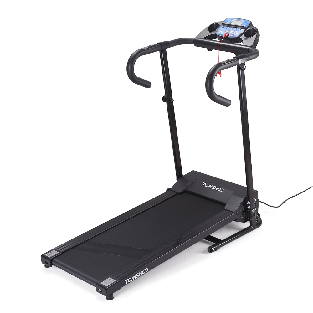 TOMSHOO 1100W Folding Motorized Portable Electric Treadmi...