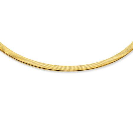 """14k Yellow & White Gold 6 mm Reversible Omega Bracelet - 7"""" 8"""""""