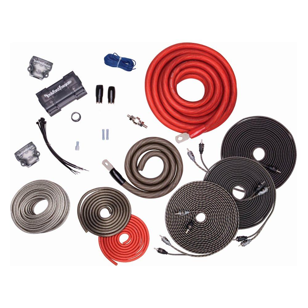 rockford fosgate 1 0 awg copper dual amplifier wiring kit w power rh walmart com rockford fosgate amp wiring kit rockford fosgate p300-10 wiring kit