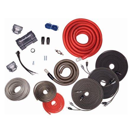 Rockford Fosgate 1 0 Awg Copper Dual Amplifier Wiring Kit W  Power Wire   Rfk1d