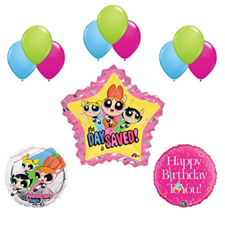 Powerpuff Girls 15pc Birthday Party Balloon Supplies and Decorations - Girl Birthday Supplies