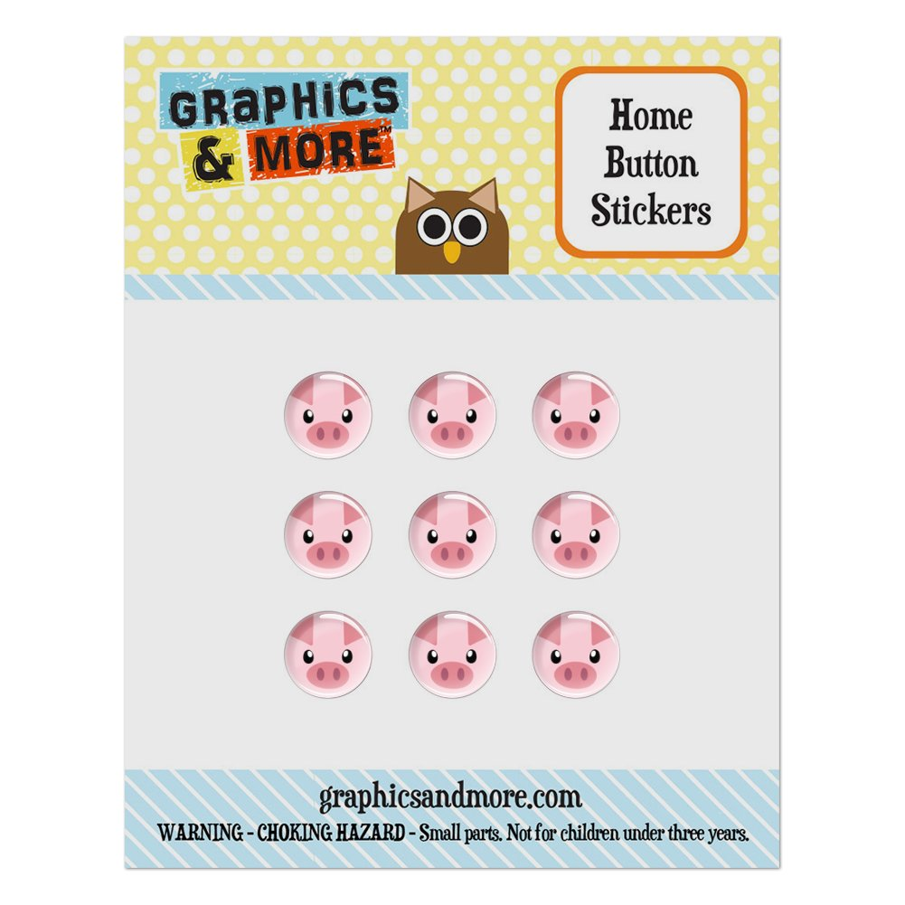 Pig Face Farm Animal Home Button Stickers Set Fit Apple iPhone iPad iPod Touch