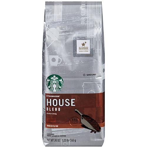Starbucks House Blend Ground Coffee, 20 oz