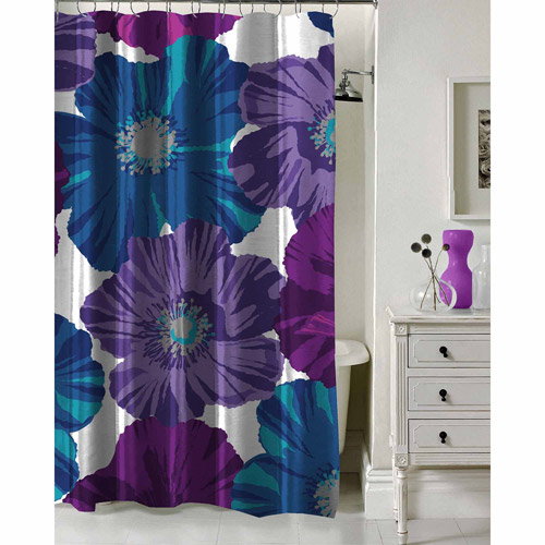 """Formula Giant Floral Shower Curtain, 70"""" x 72"""" by Idea Nuova"""