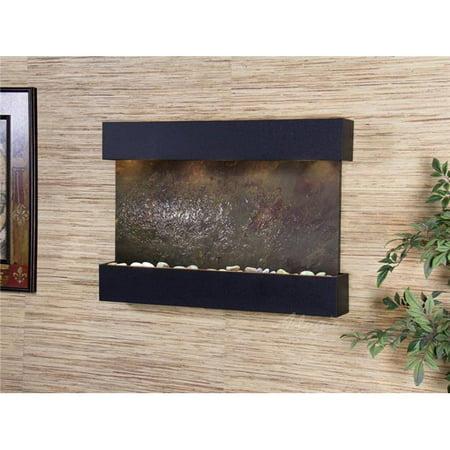 Adagio RCS1714 Reflection Creek Textured Black Multicolor Featherstone Wall Fountain