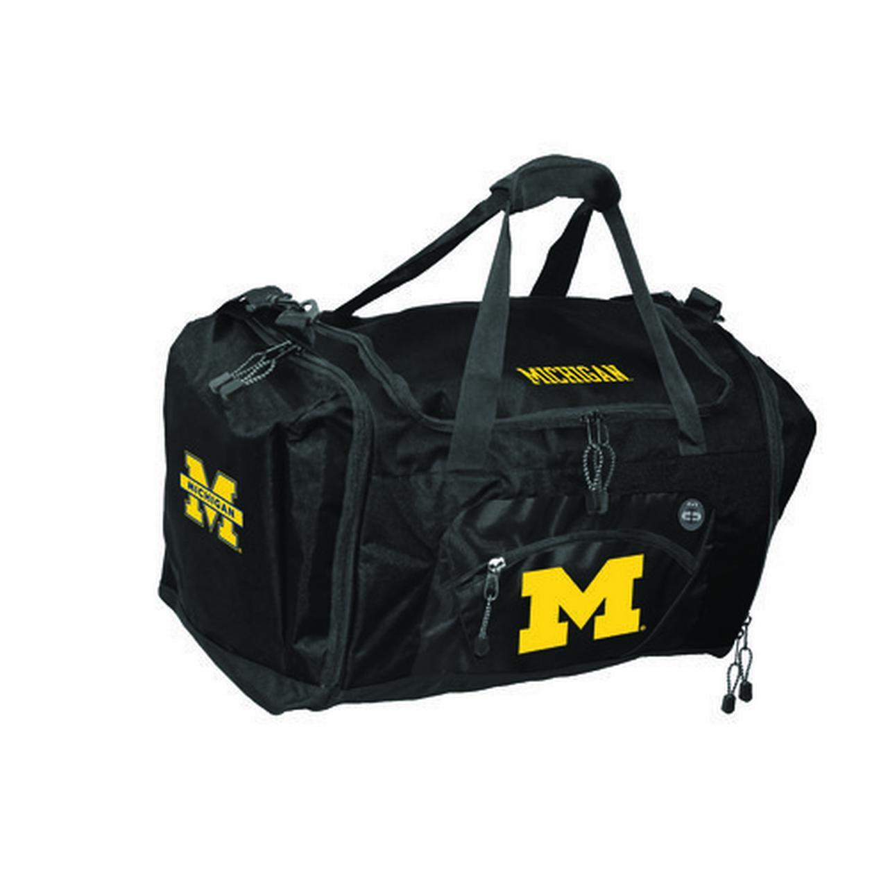 Roadblock Michigan Wolverines Duffle Bag Black Michigan Wolverines C1CMIRBDB