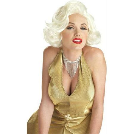Morris Costumes CC70468BD Marilyn Classic Blonde Wig (Milky Way Wig Marilyn)