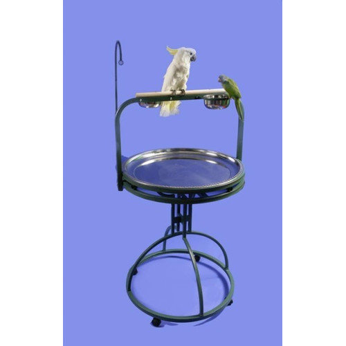 A&E Cage Co. Deluxe Bird Play Stand with Wood Perch