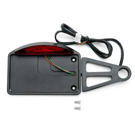 Black Side Mount License Plate LED Brake Light For Victory Ness Jackpot Arlen Series - image 4 de 5