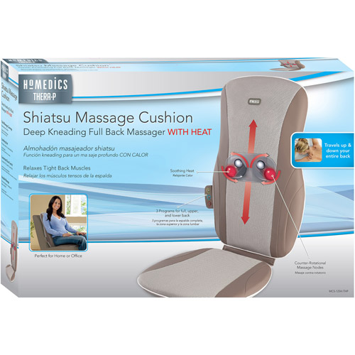 HoMedics Thera-P Shiatsu Massage Cushion with Heat, MCS-125-THP