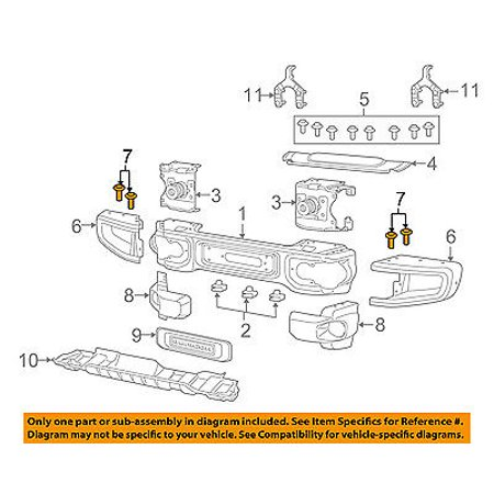Jeep CHRYSLER OEM 15-16 Wrangler Front Bumper-Extension Bolt (Front Bumper Extension)