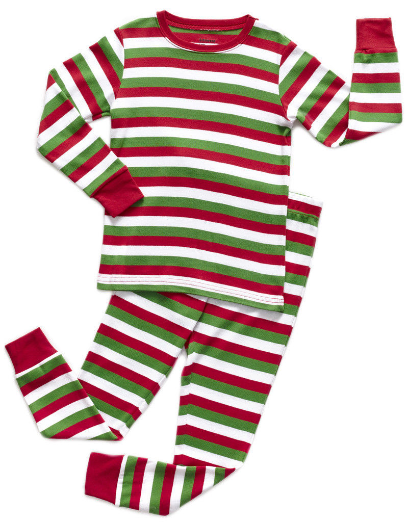 Leveret Kids Christmas Pajamas Boys Girls /& Toddler Pajamas Red White Green 2 Piece Pjs Set 100/% Cotton 12 Months-14 Years