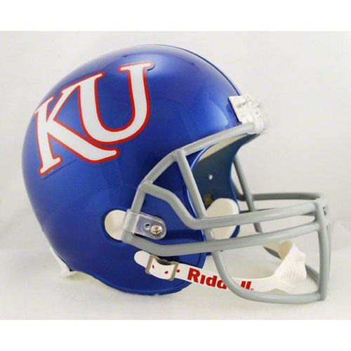 NCAA - Kansas Jayhawks Deluxe Replica Riddell Helmet