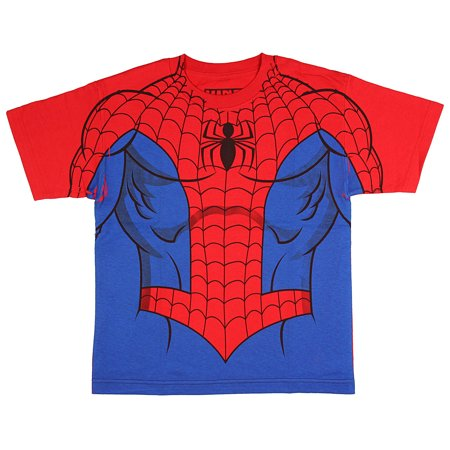 Marvel Comics The Amazing Spider-Man Youth Suit Up Sublimation Print Costume - All The Amazing Spider Man Suits