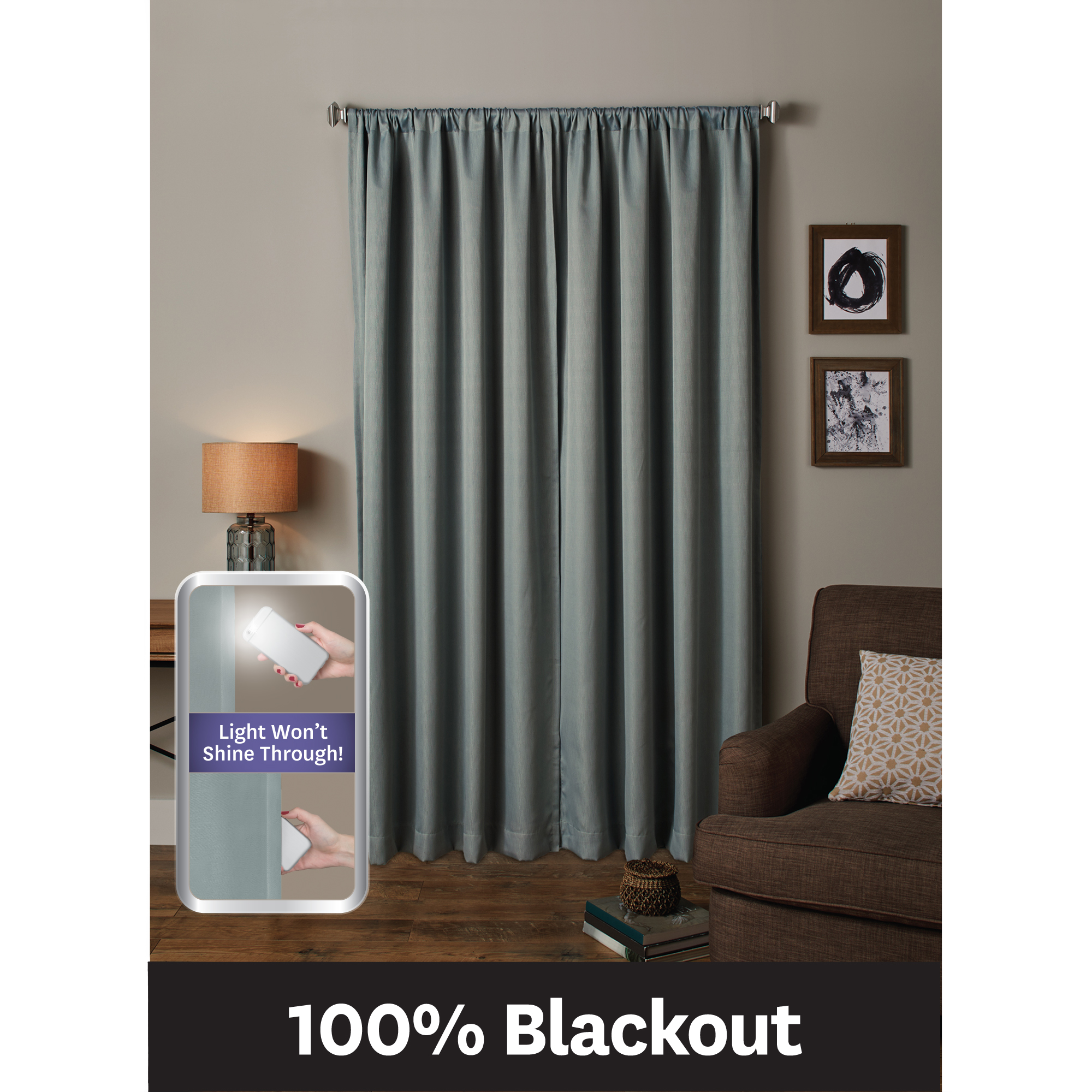 Better Homes and Gardens Ultimate Light Blocker 100 Percent Blackout Tiffany Window... by Maytex Mills