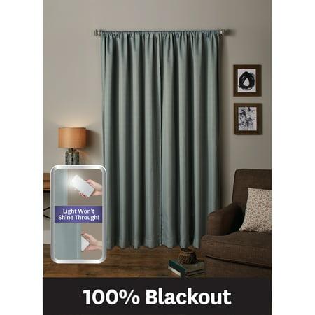 Better Homes & Gardens Ultimate Light Blocker 100 Percent Blackout Tiffany Window Curtain ()