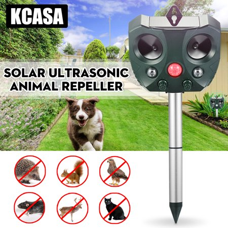 Solar Ultrasonic Animal Repeller, KCASA Solar Battery Powered Ultrasonic Animal Pest Repeller Bird Dog Insect Control Rodent Repellent with Motion Sensor for Garden Patio - image 10 of 10