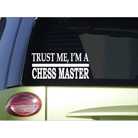 Trust me Chess Master *H493* 8 inch Sticker decal chess board set marble