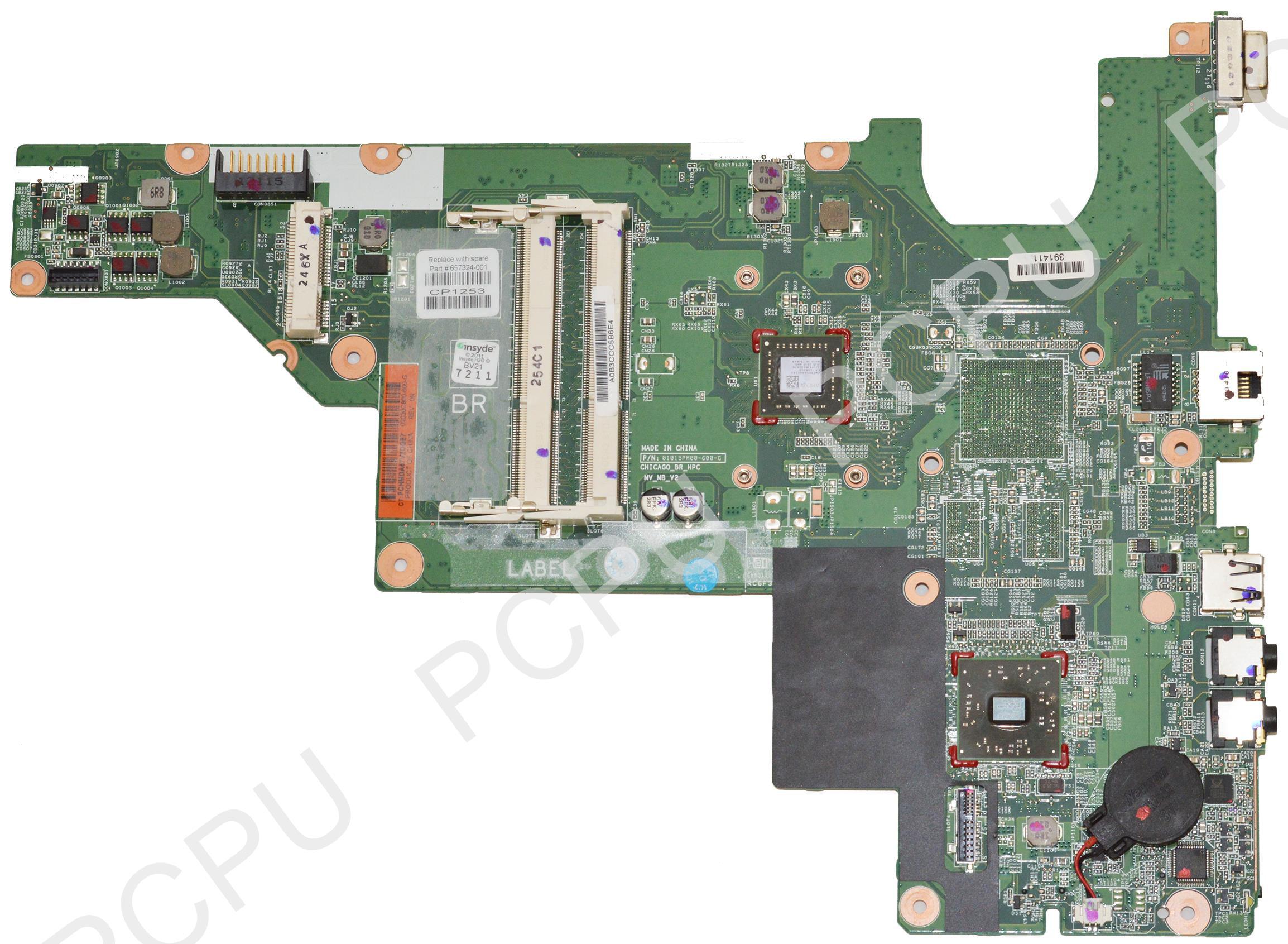 HP 2000 G43 CQ43 Laptop Motherboard w// AMD E300 CPU 657324-001 657324-001