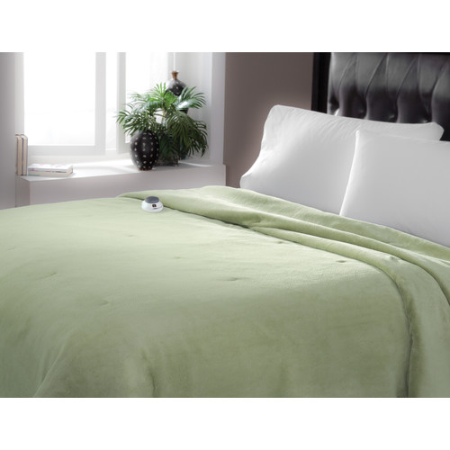 Perfect Fit Industries Sertar Luxe Plush Warming Throw Emerald