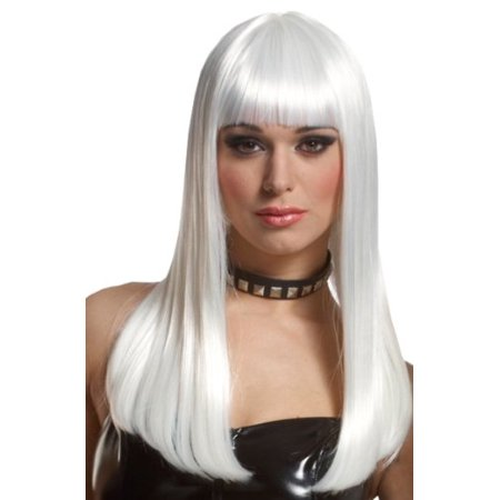 Long White Anime Vampire Emo Storm Costume Wig