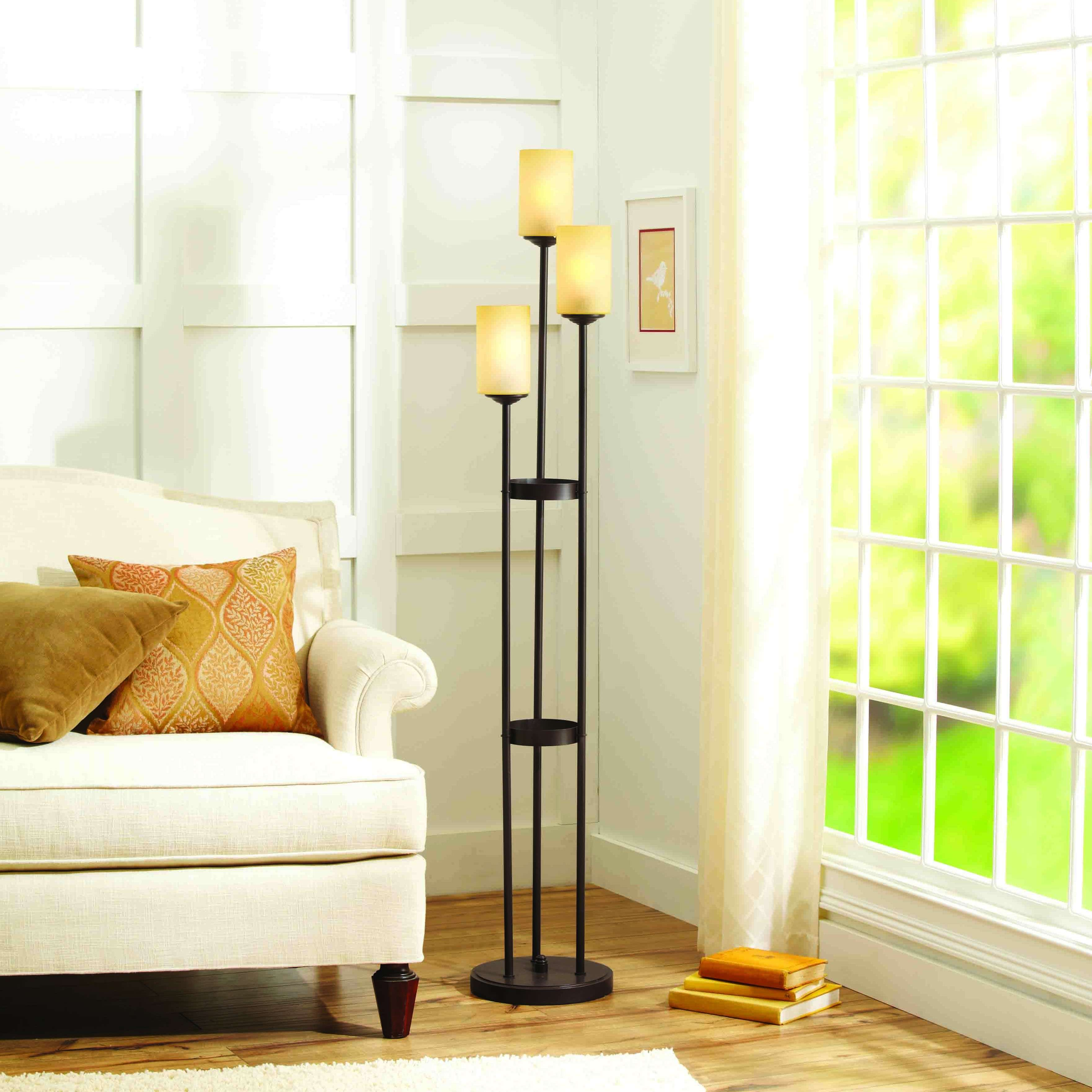 Better Homes and Gardens Triple Uplight Floor Lamp, Oil-Rubbed Bronze by Cheyenne Products