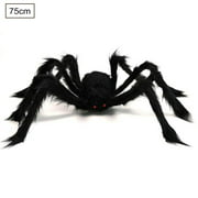 Halloween Giant Spider Decorations, Large Fake Spider with Straps Hairy Backpack Spider Realistic Scary Prank Props for Indoor Outdoor Yard Party Halloween Decor
