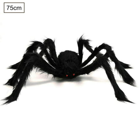 Scary Halloween Party Decorations Homemade (Halloween Giant Spider Decorations, Large Fake Spider with Straps Hairy Backpack Spider Realistic Scary Prank Props for Indoor Outdoor Yard Party Halloween)