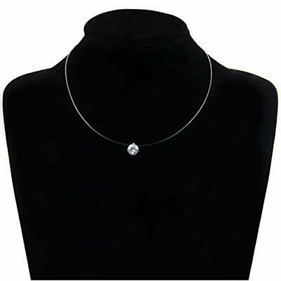 Fashion Crystal Necklace Invisible Line Zircon Clavicle Chain Women Accessories