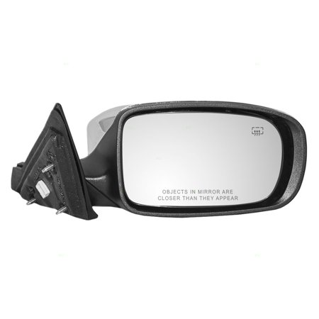 Passengers Power Side View Mirror Heated with Chrome Cover Replacement for Chrysler Convertible 68088122AC