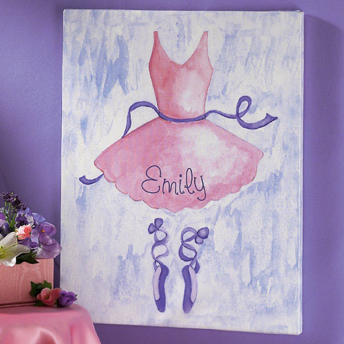 Personalized Watercolor Ballet Image on Canvas