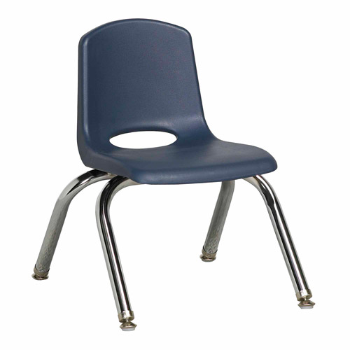 10in Stack Chair-Chrome BY, 6-pk by ECR4Kids