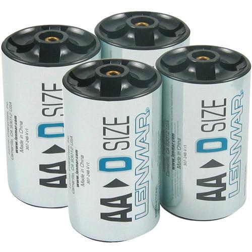 Lenmar PROAA2D Adapter for AA Batteries (D-Size)