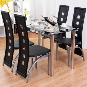 Nice 5 Piece Dining Set, Espresso with Bench, Banquette, and Chairs Banquette Walmart on