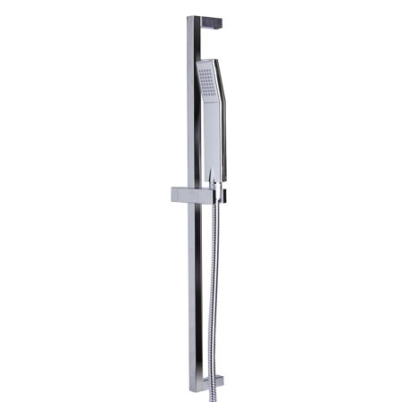 Hand Shower Rail - ALFI brand AB7606-PC Polished Chrome Sliding Rail Hand Held Shower Head Set with Hose