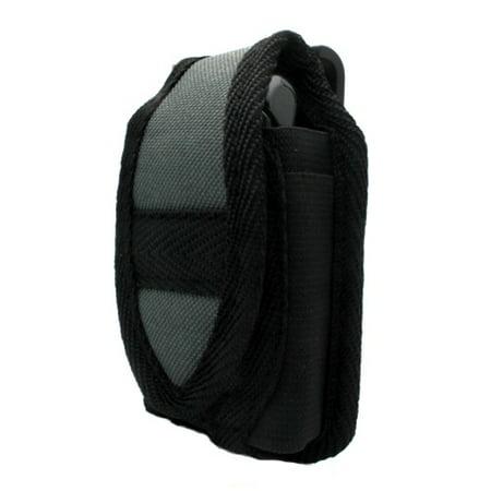 Nite-Ize Rugged Cargo Side Case Cover Phone Holster with Belt Clip A2G for Alcatel Cingular Flip 2, Go Flip - Doro PhoneEasy 626 - Kyocera Cadence, DuraXTP - LG 840G ()